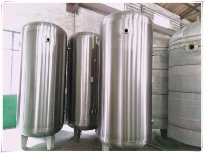 Air Compressed Natural Gas Storage Tank , Vertical Industrial Storage Tanks