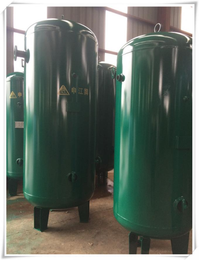 High Pressure Vessel Vertical Air Receiver Tank For Drain Valve Easy Connection