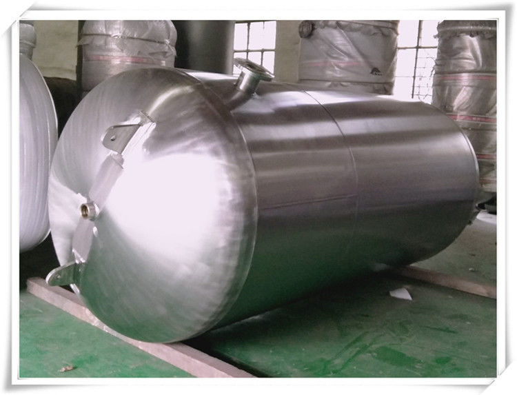 Customized Color Horizontal Air Receiver Tanks Carbon Steel / Stainless Steel