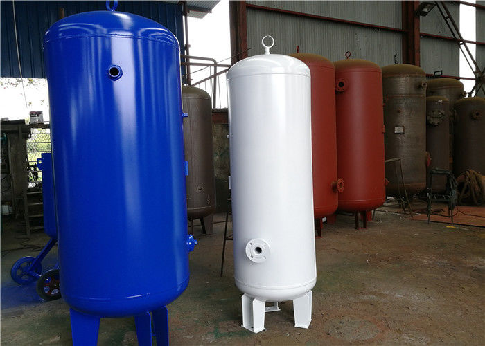 Customized Capacity Vertical Air Receiver Tank , Auxiliary Air Compressor Surge Tank